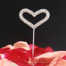 Rhinestone Heart Wedding Cake Topper Cupcake Topper Decoración