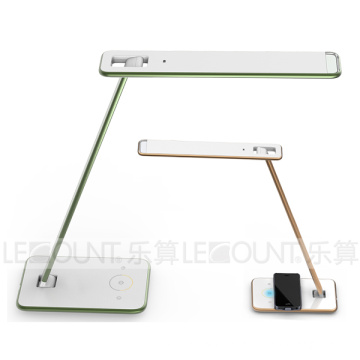 Wireless Phone Charger LED Table Lamp with Light Sensor with Qi Wireless Charging Function (LTB726W)