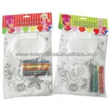 enfants enfants crayon non tissé sacs en tissu pour bouteille d'eau