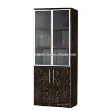 Étagère à deux portes en chêne foncé pour bureau utilisé, mobilier de bureau Commerical (KB843)