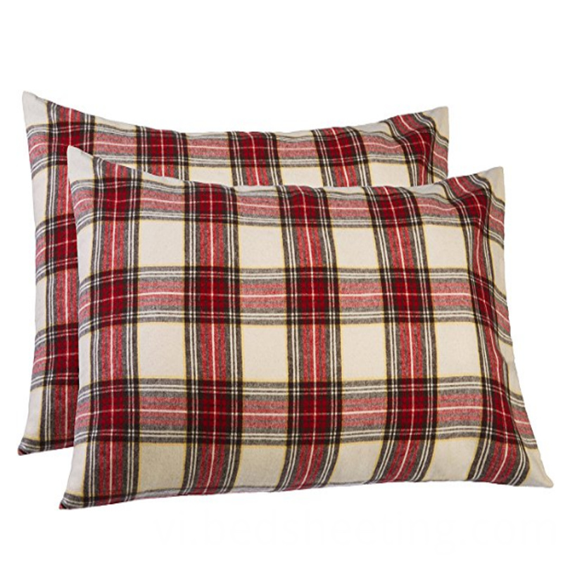 Standard Cotton Plaid Pillow Covers