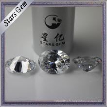 Diamant de qualité supérieure coupé 15X20mm grande taille diamant d'imitation
