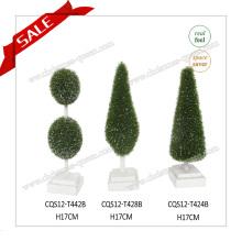 H10-19cm Innen-oder Outdoor-Kunststoff Mini Garten Dekoration Künstliche Pflanze