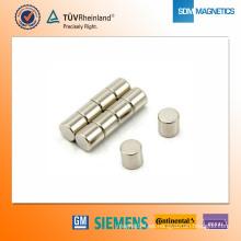 Imán de neodimio N42 D8 * 8 mm