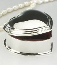 Wedding Mirror Polished Finish Heart Shape Small Metal Jewelry Case