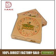Chine logo personnalisé pas cher personnalisé petite boîte d'emballage de pizza ondulée vide
