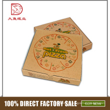 China logotipo personalizado barato personalizado pequeno vazio caixa de embalagem de pizza ondulado