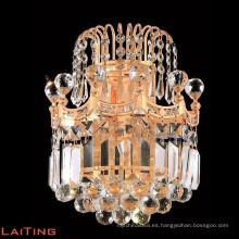 Lámpara de pared de araña de cristal de oro Lámpara de pared europea 32437