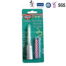 China Feliz cumpleaños Batería Taper Candle