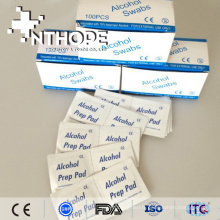 Tampon de préparation d'alcool médical d'isopropylique de 70% avec la certification de la CE