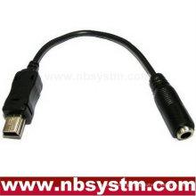 Mini B 5pin Plug to 3.5mm Jack cable