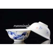 Venta al por mayor taza de té de loto azul / taza de té en forma de flor