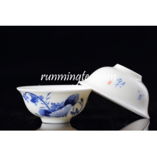 Wholesale blue lotus tea cup/flower shaped tea cup