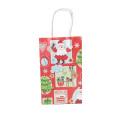 Bolsos del regalo de la decoración de la Navidad con la manija, bolsa de papel de encargo del regalo de la Navidad de Papá Noel precioso del árbol