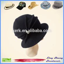 Dame Fashion Hut 100% Wolle Eimer Hut