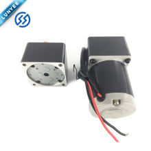 Motor cepillado eléctrico del engranaje de la CC de las bajas rpm del esfuerzo de torsión alto 6w 12v con la caja de engranajes