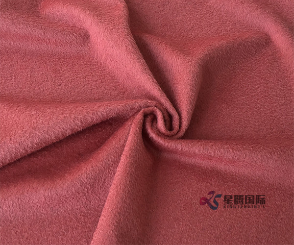 Plush Single-sided Wool Nylon Blend Fabric