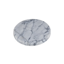 posavasos de mármol con posavasos de hierro negro / tapete