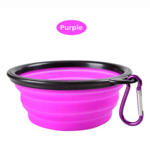 Wholesale Dog Cat Food Water Travel Bowl Portable Collapsible Silicone Dog Bowl