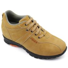 Sapatos de Lazer de Sapatos de Homem Amarelo com Renda