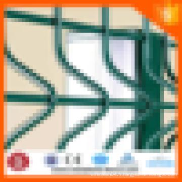 Clôture en treillis métallique de barrière de sécurité de pont d'assurance de commerce d'Alibaba (revêtement de PVC et ISO 9001 galvanisé)