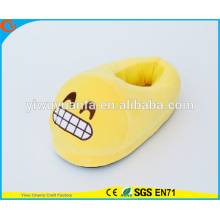 Hot Sell Novelty Design Loud Lachen Plüsch Emoji Pantoffel mit Ferse