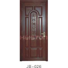 Solid wooden carving door