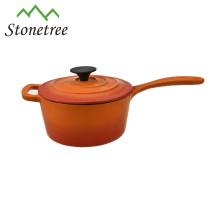 Good Quality Enameled Milk Pot Cast Iron Sauce Pan with Handle