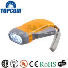 Energía de ahorro mini 3 led mano manivela linterna