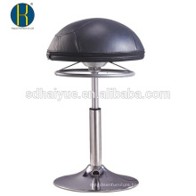 Height Adjustable European European black leather round ball seat home stool