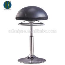 Venda quente Rodada Assento preto pu bar mobiliário para venda com base redonda