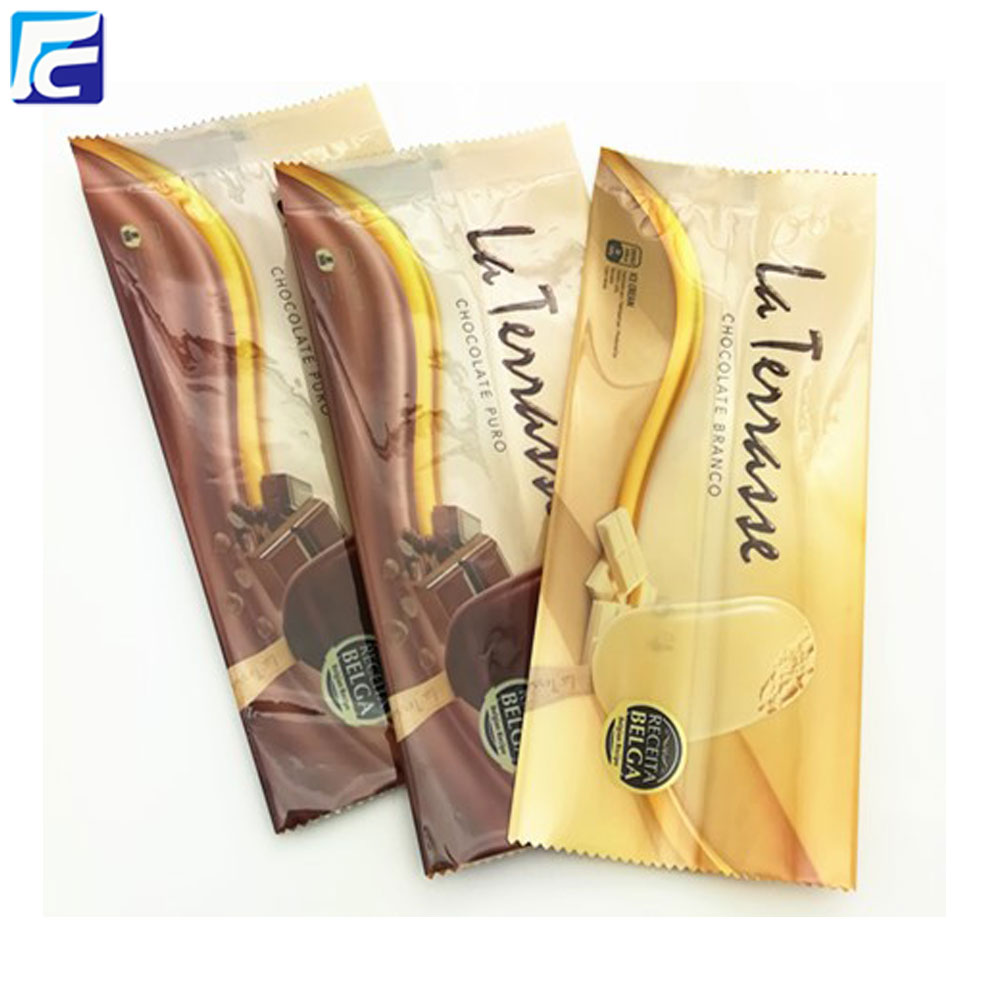 Custom printed ice lolly popsicle wrapper pop bags