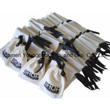 Bolso promocional impreso de encargo de la bolsa del regalo de la joyería de la lona del algodón