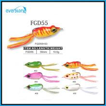 Feuerrote Farbe verfügbar Beliebter Froschköder (55 mm / 10,5 g)