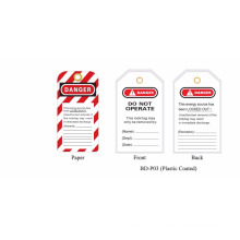 BOSHI BD-P03 Etiqueta de bloqueio de segurança industrial com sinais de aviso, OEM aceitável