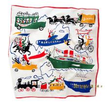 OEM produzieren kundenspezifisches Design bedrucktes Baumwollförderendes Taschentuch