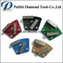 Meule trapézoïdale de meulage en métal pour le meulage de plancher en béton