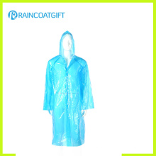 Hooded Disposable Long PE Raincoat (RPE-078)
