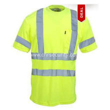 Men's High-Visibility Yellow Pocket T-Shirt