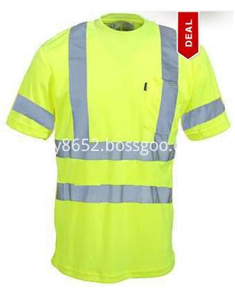 Men's High-Visibility Yellow Pocket T-Shirt