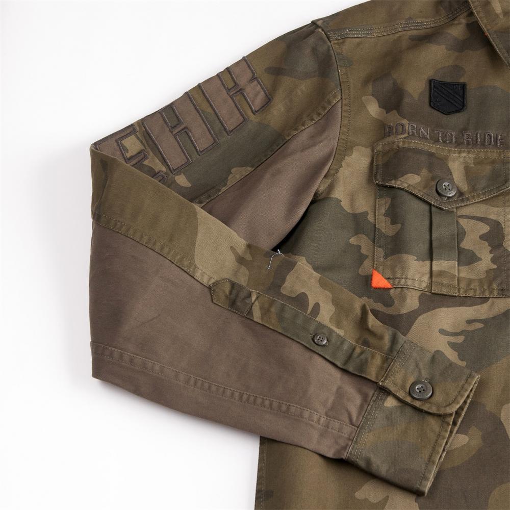 Long Sleeve Camouflage Top Wear Shirt