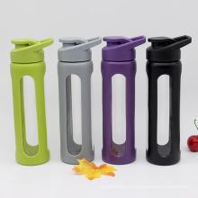 Botella de agua de vidrio de borosilicato ecológico