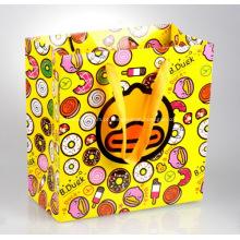 Promocional luxo laminado sacos de papel - punho da fita