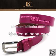 Cinturón de cuero femenino de la castidad de la manera con costura