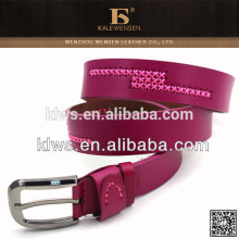 Fashion chastity female leather belt with stitching
