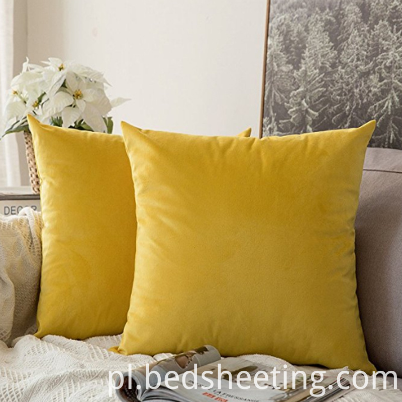 Lemon Yellow Decorative Pillow Shams