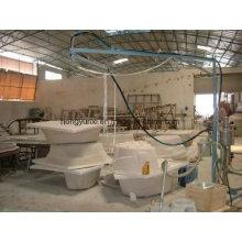Máquina de pulverização para fabricação de produtos de fibra de vidro