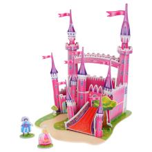 3D Rosa Schloss Puzzle