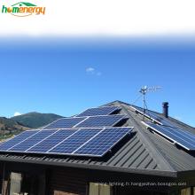 Système de panneaux solaires à la maison hybride 5kw de Bluesun 220V monophasé pour l'Europe