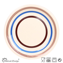 Color Circles Ceramic Dinner Plate